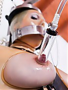 In the rubber clinic patient is tied onto the treatment chair for the mother's milk collection