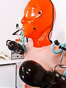 Rubber clinic patient bondage